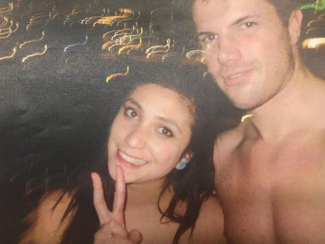 Warriena Wright and Gable Tostee in a photo police found on his camera.