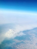 Aerial view of fires south of Brisbane. Picture: Venny Xanthopoulos