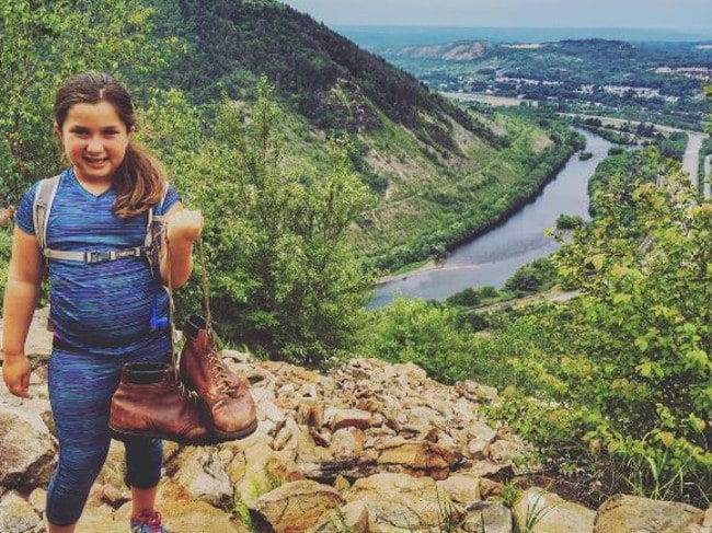 "This picture of Paul's boots was posted with the caption: ""My seven year old daughter Isabel, who normally gives me a hard time about going on hikes, was looking forward to going out on the trail, knowing she was helping M'Lynn fulfil Paul's dream. Both she and her brother Alex realised how lucky they are — and that they should never leave their dreams for later."" — Juan Garcia (@goruckgarcia)"