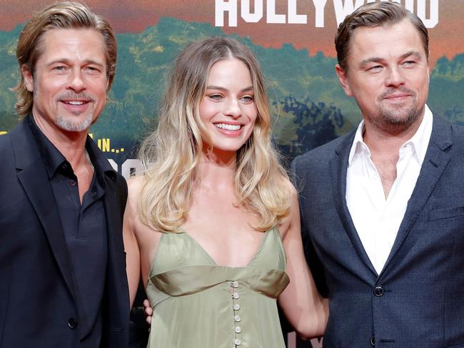 Leonardo DiCaprio and Brad Pitt were nominated for Quentin Tarantino's Once Upon A Time ... In Hollywood, but Margot Robbie's nomination came for another film. Picture: AFP