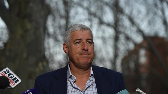 Australian Rugby Union chairman Cameron Clyne speaks to the media.