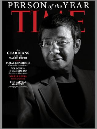 The magazine also honored Philippine journalist Maria Ressa. Picture: AFP