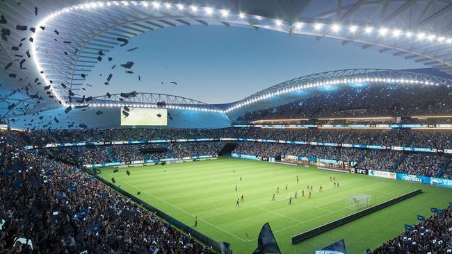 An artist's impression of the new Allianz Stadium.