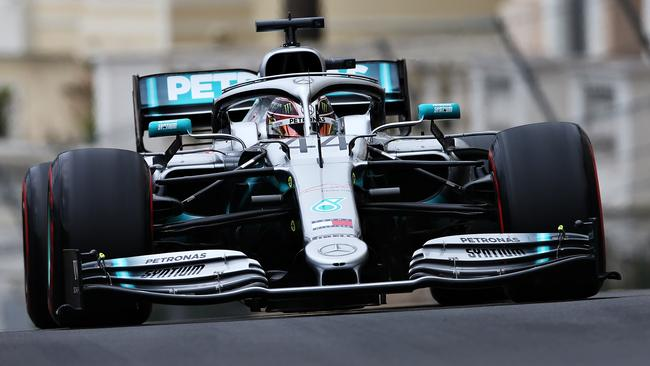 Lewis Hamilton recorded the fastest time in the first practice session. Picture: Getty Images