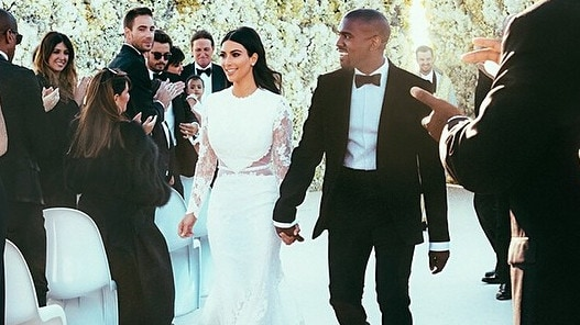 The lavish ceremony was attended by plenty of A-listers. Picture: Instagram/Kim Kardashian