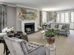Regal living space in Obama's new home. Picture: The McFadden Group