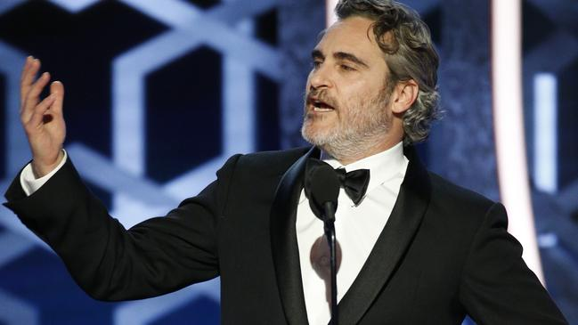 Joaquin Phoenix called out the hypocrisy of some people in Hollywood. Picture: Paul Drinkwater/NBCUniversal Media, LLC via Getty Images