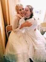 Samara Weaving and Ruby Rees behind the scenes of Picnic At Hanging Rock. Picture: @samaraweaving/Instagram