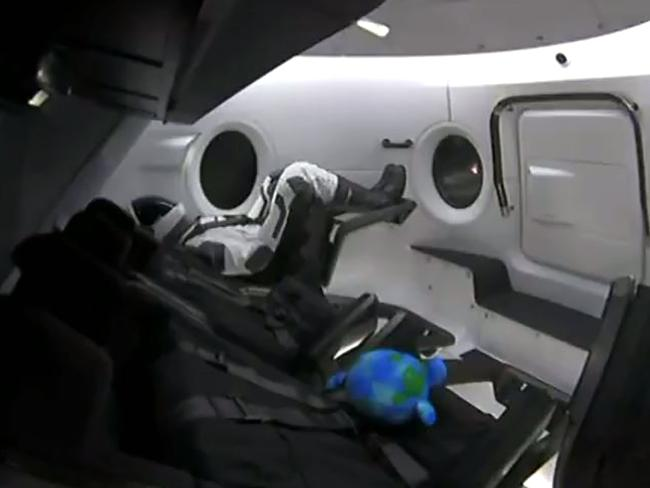 """Ripley, the dummy, is the only """"crew member"""" on board this time around. Picture: AFP"""