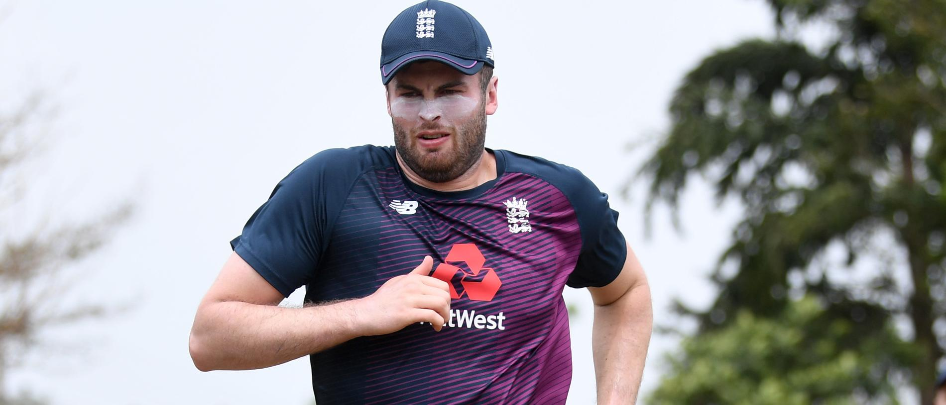 KATUNAYAKE, SRI LANKA - MARCH 06: Dom Sibley of England warms up during a nets session at Chilaw Marians Cricket Club Ground on March 06, 2020 in Katunayake, Sri Lanka. (Photo by Gareth Copley/Getty Images)