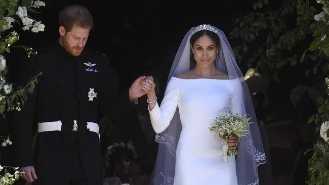 Meghan Markle won applause for her calm demeanour at her wedding to Prince Harry. Picture: Ben Cawthra/Sipa USA/MEGA