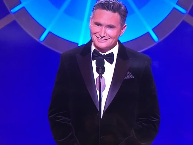 Dave Hughes opens the 2016 Logie Awards.