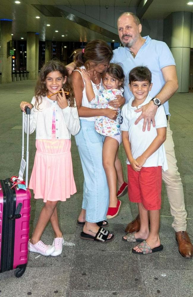 Ellie Holman is reunited with her family after her ordeal in Dubai. Picture: Simon Jones/The Sun