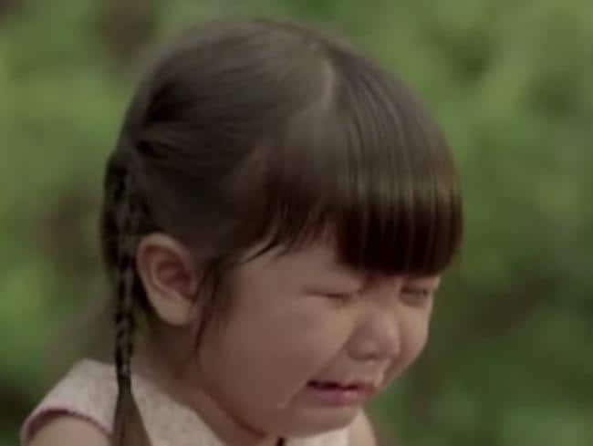 A young girl at the heart of a Thai TV commercial weeps. She's not alone... *sniff*. Picture: YouTube