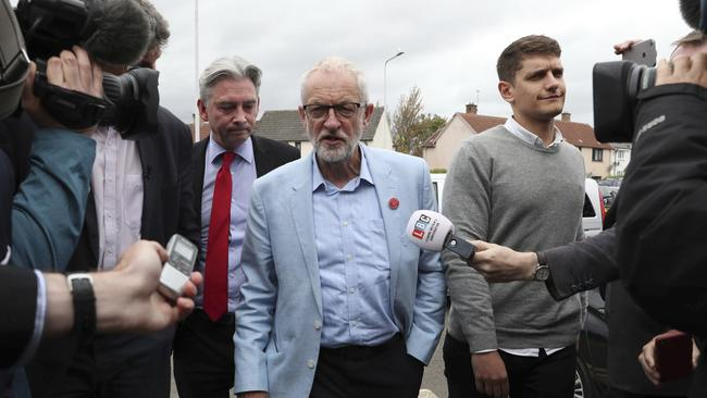 Labour Party leader Jeremy Corbyn believes he can stop the PM's plan. Picture: Andrew Milligan/PA via AP