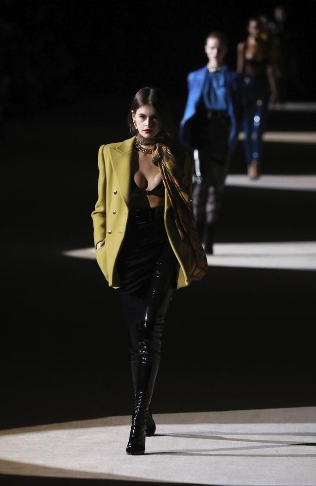 She was one of the drawcards of the Saint Laurent show. Picture: Vianney Le Caer/Invision/AP