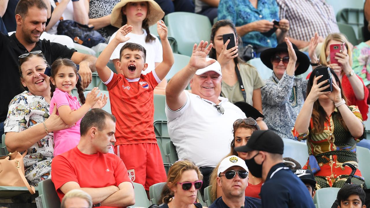There were fans in the stands at an Adelaide exhibition tournament on Friday, and they'll be there in droves for the Australian Open.