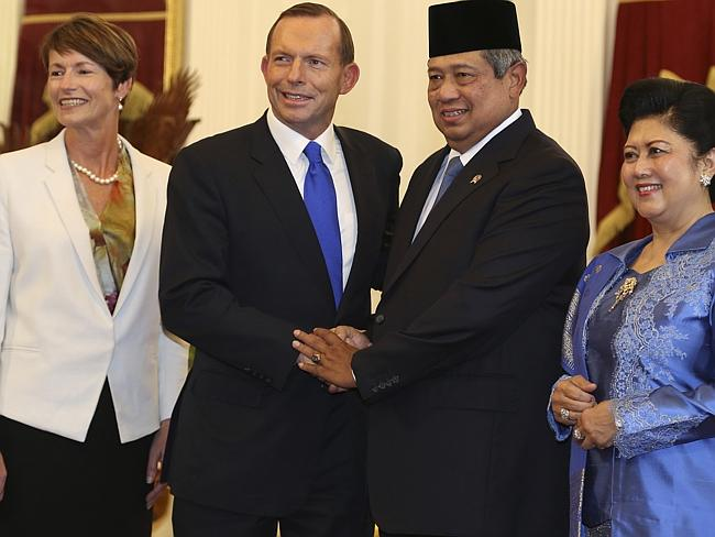 Indonesian President Susilo Bambang Yudhoyono and his wife Ani were targeted by Australian intelligence agencies in 2009. Picture: AP