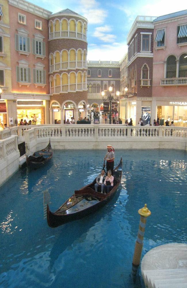 The Venetian Macao Resort Hotel has replicated the city of Venice.
