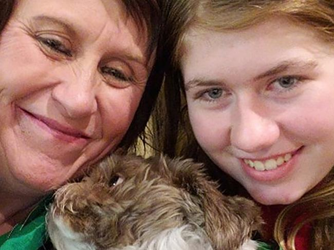 Jayme Closs, 13 is reunited with her aunt Jennifer Smith and dog Molly on January 11 following the teen's remarkable escape after 88 days in captivity. Picture: Facebook