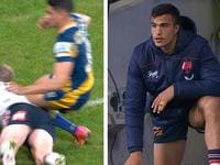 Dylan Brown's missed knees in the back cost 18th man Joseph Suaalii a debut.