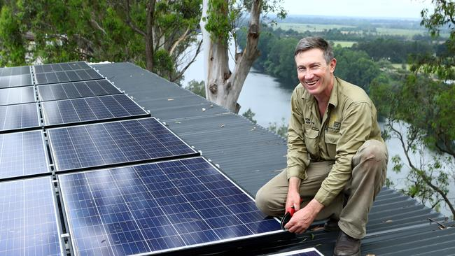 Rod Grono of Western Sydney Solar estimates 50 per cent of his business is fixing badly-installed solar panels. Picture: Hollie Adams/The Australian
