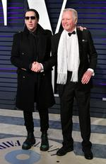 Unlikely friends Marilyn Manson and Jon Voight attend the 2019 Vanity Fair Oscar Party. Picture: Dia Dipasupil/Getty Images