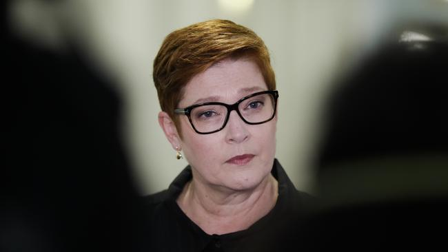 Minister for Foreign Affairs Marise Payne. Picture: Sean Davey.