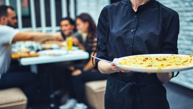 The woman said it was common for servers to steal food from customers' plates. Picture: iStock
