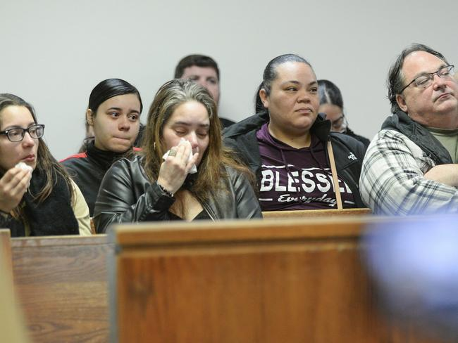 Family of Amanda Ramirezof become emotional as she is sentenced in Camden County Superior Court. Picture: AP