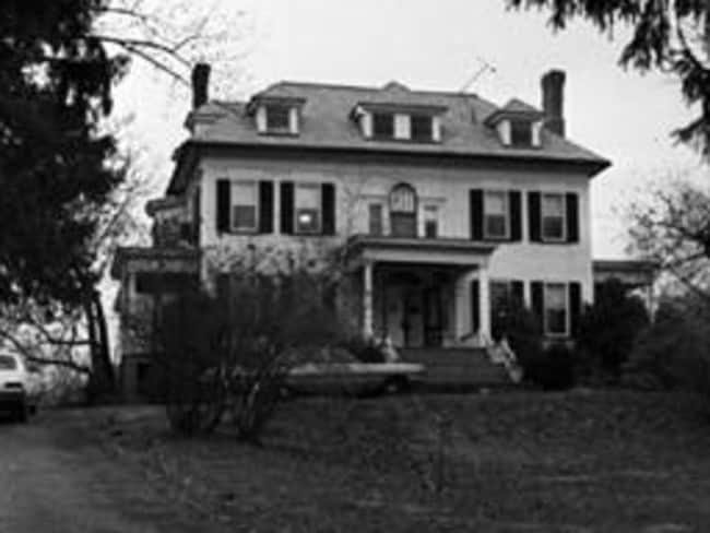"""Westfield's Breeze Knoll, where John List murdered five family members before going on the run for 18 years, burnt down in the mid-70s but was rebuilt on the same spot. It remains known as """"The List house""""."""