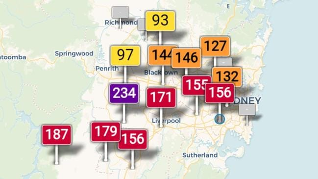 "Air pollution in Sydney has been ""hazardous"" for weeks. Picture: Supplied"