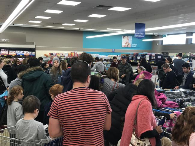 Chaos minutes after the doors opened at a Melbourne store.