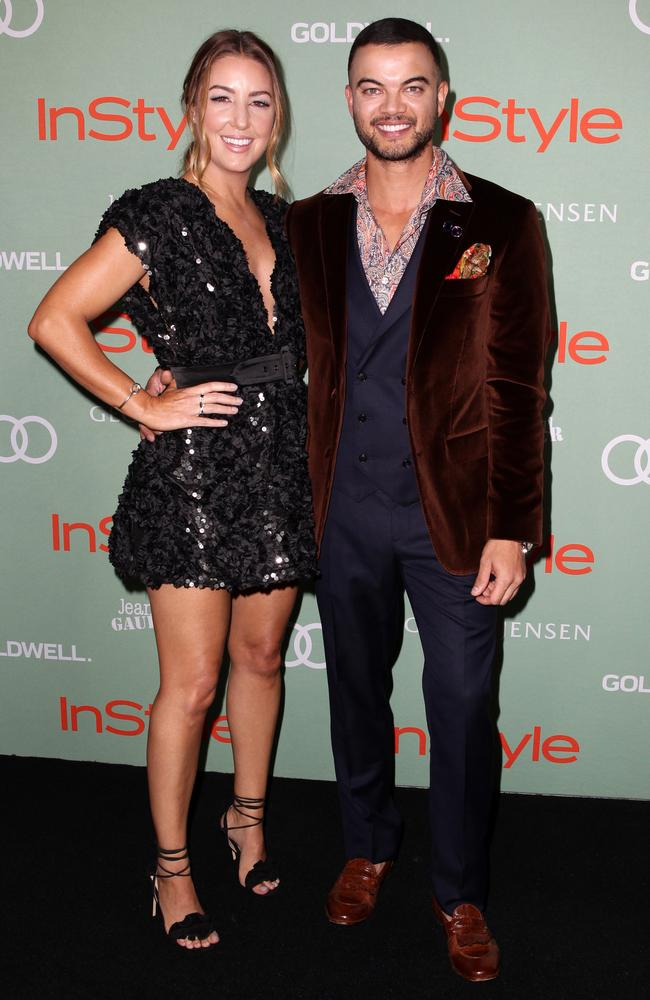 Jules and Guy Sebastian joined around 200 guests at the Museum of Contemporary Art. Picture: Christian Gilles