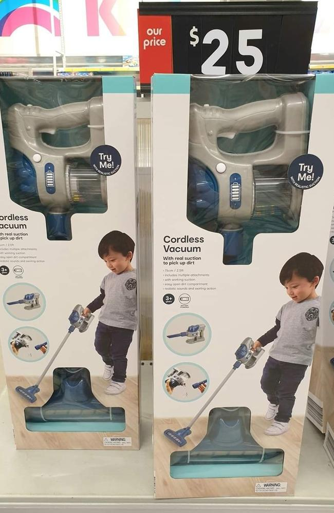 kmart thrills parents with toy vacuum featuring boy on packaging
