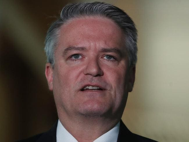 Mathias Cormann at Parliament House in Canberra. Picture Kym Smith