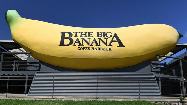 The Big Banana is seen in Coffs Harbour. Picture: AAP/Dave Hunt