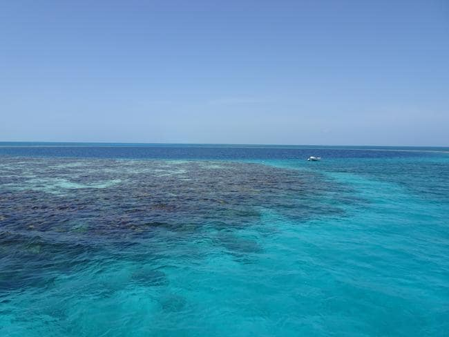 Overlooking the spectacular Great Blue Hole, a giant submarine sinkhole in the middle of Belize's Lighthouse Reef. Picture: Gary Burchett