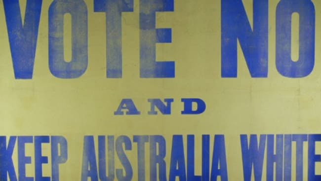 A Keep Australia White poster from the 1917 debate.