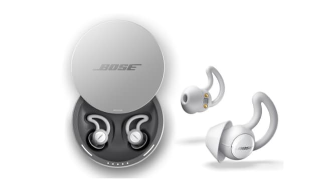 They come with a rechargeable case, too. Photo: Bose