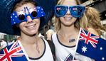 SYDNEY, AUSTRALIA - JANUARY 26: Australia Day revelers pose for photos at Circular Quay on January 26, 2018 in Sydney, Australia. Australia Day, formerly known as Foundation Day, is the official national day of Australia and is celebrated annually on January 26 to commemorate the arrival of the First Fleet to Sydney in 1788. Indigenous Australians refer to the day as 'Invasion Day' and there is growing support to change the date to one which can be celebrated by all Australians. (Photo by Cole Bennetts/Getty Images)
