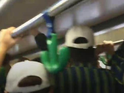St Kevin's students were filmed chanting on a Melbourne tram on Saturday. Year 12 students were caught doing the same thing on Monday night.
