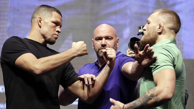 Dana White (C) will remain UFC president despite the ownership change.