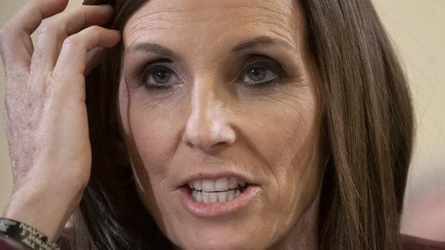 Senator Martha McSally recounts her own experience while serving as a colonel in the Air Force, saying she was raped by superior officer. Picture: AP