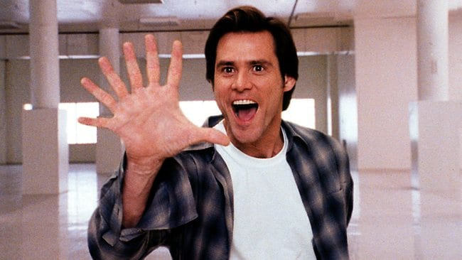 Flexible-faced comedian Jim Carrey does what he does best in Bruce Almighty.