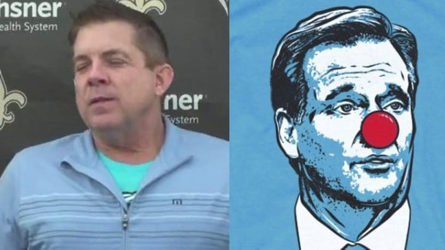 New Orleans Saints coach Sean Payton sparks social media storm with hint of Roger  Goodell clown shirt b3b35d330