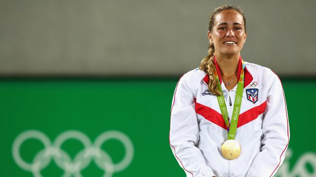 Stosur's opponent Monica Puig won gold at the Rio Olympics