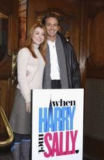 Luke Perry and Alyson Hannigan starred in a stage adaptation of 'When Harry Met Sally' in 2004 in London. Picture: Steve Finn/Getty Images