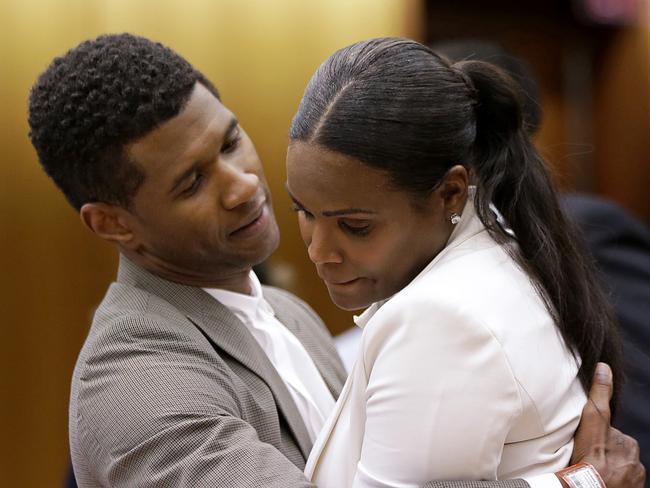 Usher with ex-wife Tameka Foster Raymond in 2013.