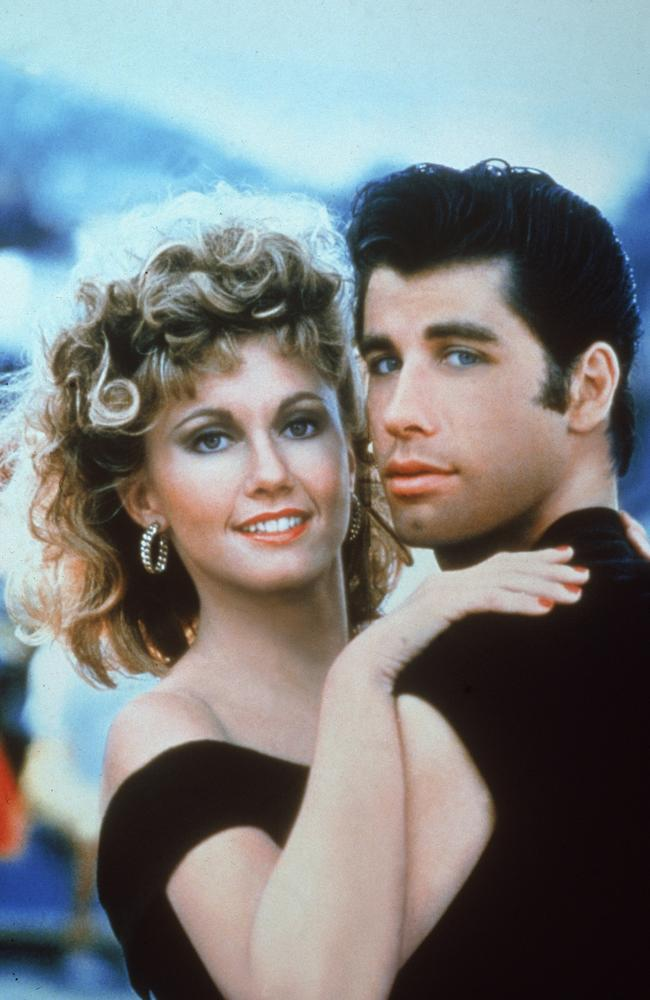 Olivia Newton-John and John Travolta in Grease. Picture: Paramount Pictures//Getty